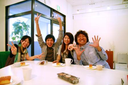 熊本デザイン専門学校の学生たち