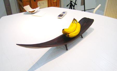 トレーとバナナ