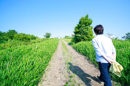 澤井さんと亀嶺峠