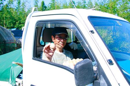 澤井さんのお父さん。とたまご。