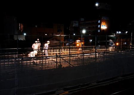新水前寺駅の工事