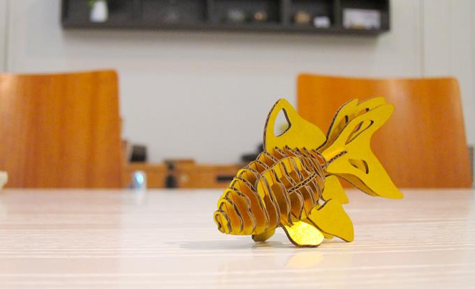 熊本のホームページ制作会社/金魚紙模型その6